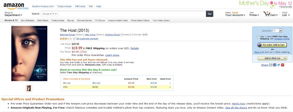 Amazon DVD